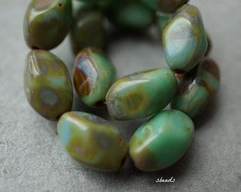 Forrest Bliss, Druk Beads, Czech Beads, Beads, D98