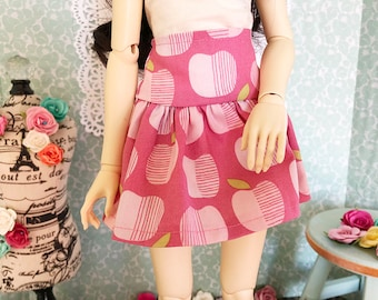 Pink Apples Ruffle Skirt for SD/SD13