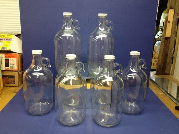Moonshine Jug 6 New 64oz 1 2 Gallon Glass Jug Beer Wine
