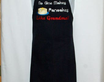 Grandma Apron, No One Makes Pancakes Memere, Nina, Nana, Grams, Opa, Grandparent Gift, Custom Name, No Shipping Fee, Ships TODAY AGFT 1225