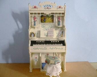 Dollhouse Miniature One Inch Scale Organ