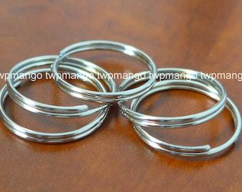 """100 1"""" Key Rings Key Chains 1 inch Split Rings Nickel Plated K27-100"""