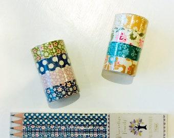 Beautiful Tilda fabric tape / decorative pencils