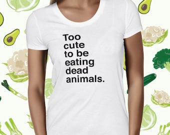 Animal Rights Shirt - Vegan Police T Shirt - Vegan Shirt - Veggie T-shirt - Cute Vegan Shirt for Women - Cute Plant Tee - Plant-based Tee