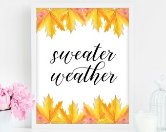 Sweater Weather,happy fall y'all, happy fall yall sign, happy fall yall, fall wreath, happy fall printable, hello fall, happy fall