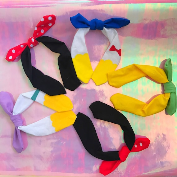 Blind Bag Knotted Bow Headbands Series One Mickey Minnie