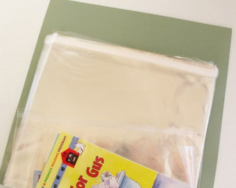 25- 8 x 10 Resealable Clear Cello Bags -Transparent Cello Bags -Self Adhesive Cello Bags -Food Safe Cello Bags -Clear Cellophane Bags