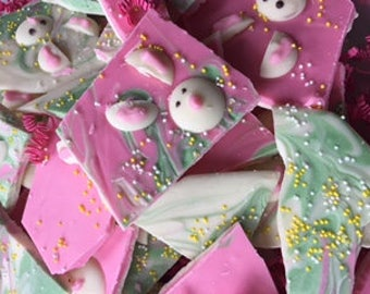 16 oz. Easter Bunny Bark, Chocolate Bark, Candy Bark, Pastel Bark