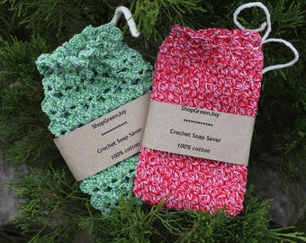 Crochet large soap saver Soap holder Bath Shower Puff Soap Saver Bags Soap Socks Bath Crochet Cotton soap sack Soap Saver Pouches Cotton bag