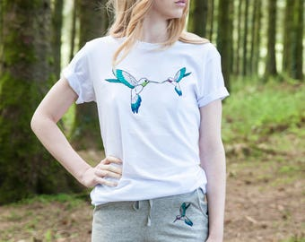 Humming Bird Embroidered Tee