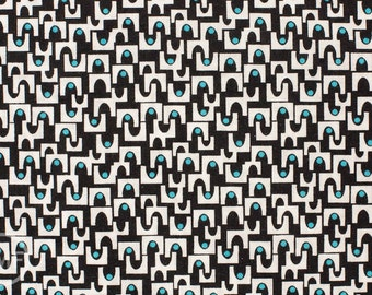Half Yard MicroMod Arches in Black, Rob Bancroft, 100% GOTS-Certified Organic Cotton, Cloud9 Fabrics