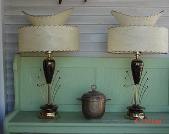 "Stunning, 1950's ""Hollywood Regency"", Mid-Century modern  ""Atomic"" Lamps"