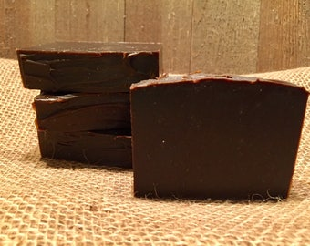 Pine Tar & Goat Milk Soap  | Natural Soap | Goat Milk Soap | Handcrafted with Medicinal Grade Pine Tar | Cold Process Soap