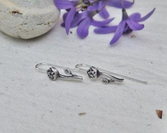 Protea Hook Earrings Sterling Silver