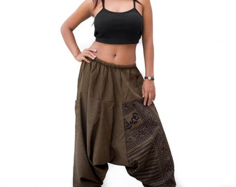 Harem Pants Men Women Yoga pants, Drop Crotch Pants, Hip Hop Pants, Boho Pants, Gypsy Pants, Baggy Pants