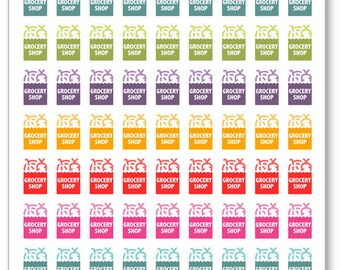 Grocery Shopping Planner Stickers for Erin Condren Planner, Filofax, Plum Paper