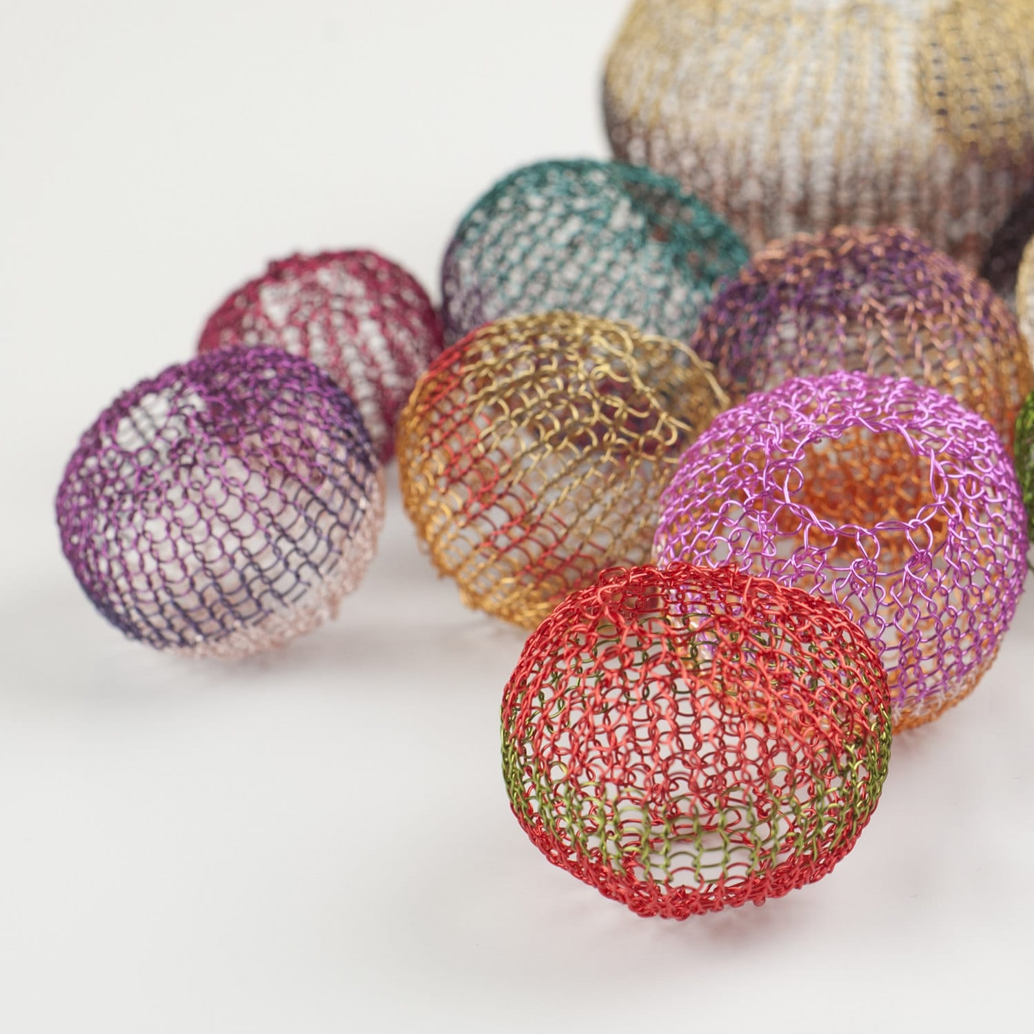 Mini Crochet tutorial - Wire Crochet Pattern - Wire Crocheted Balls ...