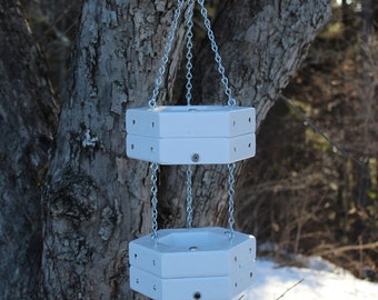 Painted Double Hanging Feeder