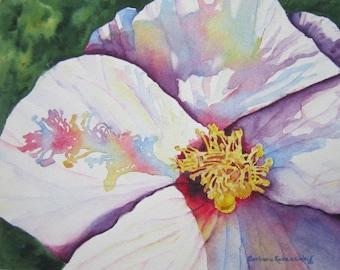 Hibiscus Print, Flower Print, Hibiscus Wall Art, Flower Painting, Flower Wall Art, Flower Watercolor, White Hibiscus Art Tropical Home Decor