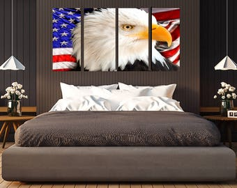American Flag With Eagle 11 Wall Art