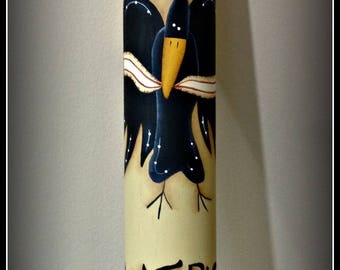 Americana Black Crow Wood Rolling Pin-Summer Home Kitchen Decoration