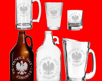 Dyngus Day Etched Glassware - Mug - Glass - Beer - Growler