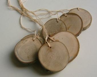 300 Small Wooden Hang Tag Diy Bag Tag Blank Name Tag 1.5 to 2 inch