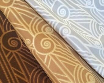"""Art Deco """"Volute"""" Fabric"""