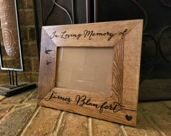 In memory of personalized photo frame picture frame, custom bereavement frame, commemorative frame, In loving memory, remembrance gift frame