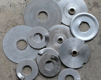 Vintage clock parts -- disc -- D17