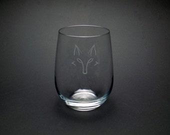 Fox Wine Glass - Forest Friends Wine Glass - Minimalist Fox Glass - Fox Glass for Her - Fox Gift for Him - Foxy Wine Glass - Fox Wine Gift