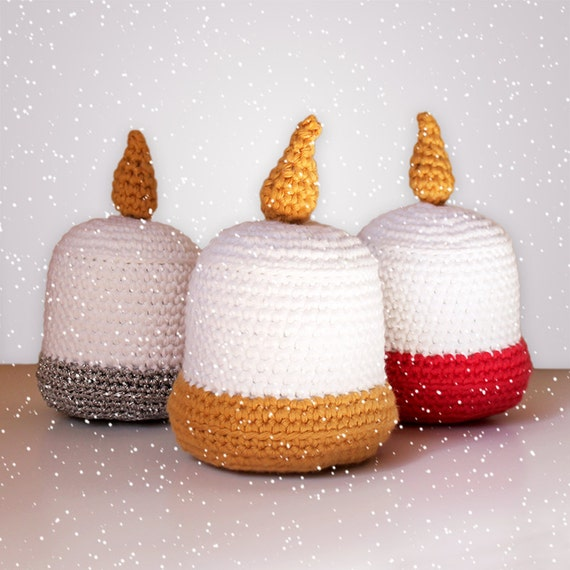 Candles - Christmas Patterns. Amigurumi Pattern PDF.