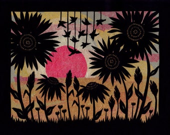 As The Day Ends - 8 x 10 inch Cut Paper Art Print