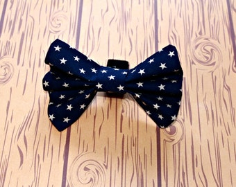 Stars Dog Bow Tie Collar Accessory