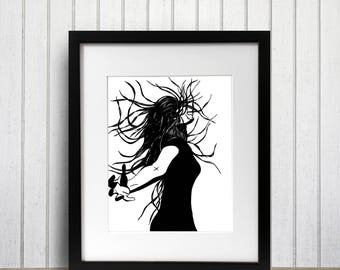 Invention Original Ink Drawing - Art Print