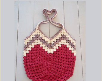 Granny Ripple Bag Crochet Pattern.  Instant Download in pdf format.