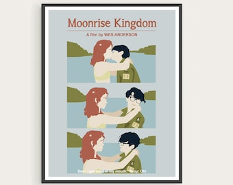 MOONRISE KINGDOM Suzy & Sam, Wes Anderson, Movie Poster Art.