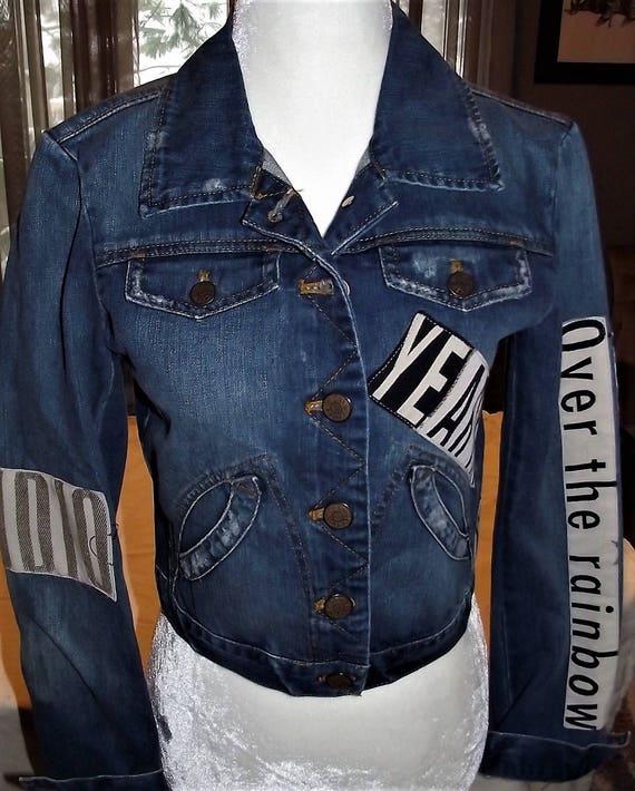 Refurbished Denim Womens Jacket-Size Xsmall