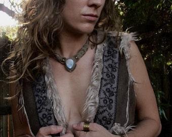 AAA Moonstone Goddess dual purpose necklace