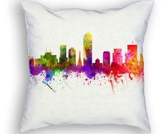 Indianapolis Indiana Throw Pillow, 18x18, Cushion Home Decor, Gift Idea, Pillow Case 02