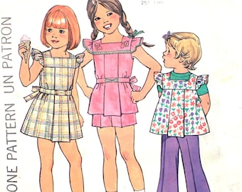 Girl's Dress, Top and Pants Size 5 Simplicity 7459