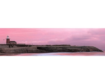 Panorama Print of Mark Abbott Memorial Lighthouse in Santa Cruz, California on Canvas or Photo Paper