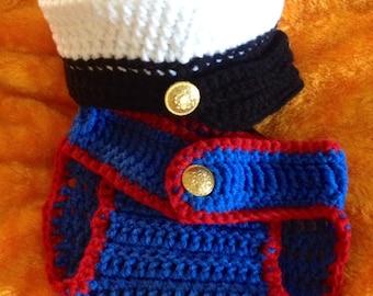 Crochet Baby Dress Blues