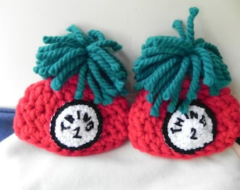 Newborn Thing 1 and Thing 2 Chunky Hats READY TO SHIP