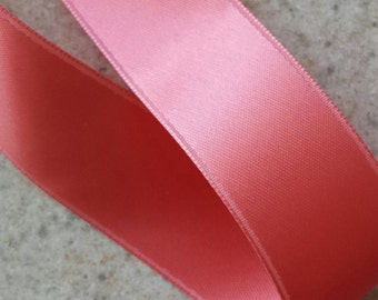 Coral Reef Double Face Satin Ribbon - price is per yard