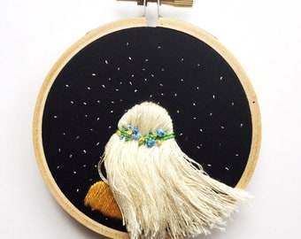Flowing Hair Beneath The Stars - Blonde, Platinum