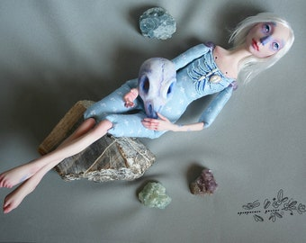 "Brunnhilde. Limited Edition. Series ""8 birds"". Art doll. Collection doll. Hand made doll."