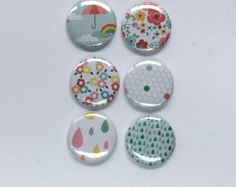 Raindrops & Roses Flair Badges
