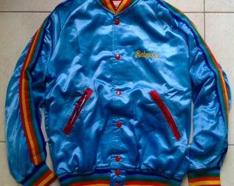 "Vintage Rebecca Brandewyne ""THE OUTLAW"" owned promo varsity jacket size S"