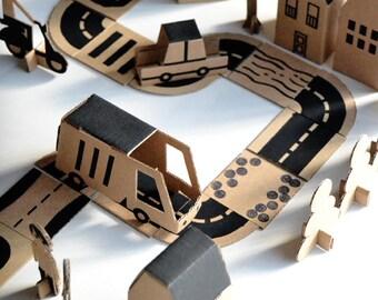BLOC CITY. Cardboard Toy